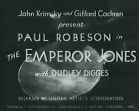 The Emperor Jones 1933 w/Paul Robeson